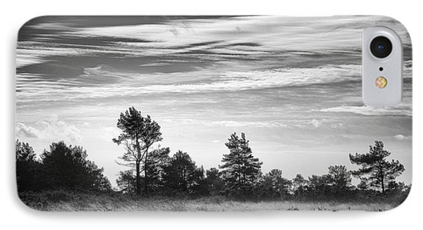 Ashdown Forest In Black And White Phone Case by Natalie Kinnear