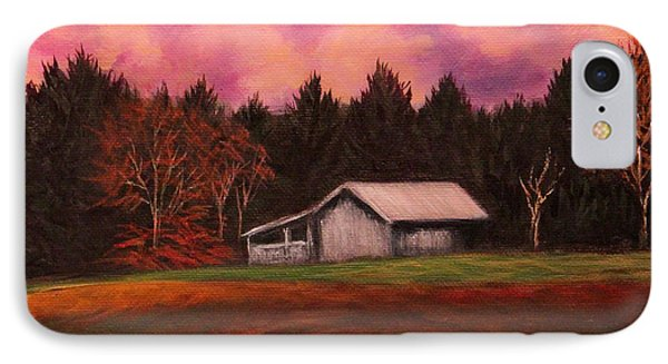 IPhone Case featuring the painting Asheville Barn by Janet Greer Sammons
