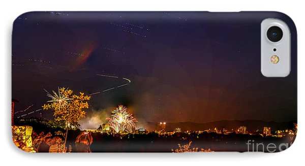 Asheville Fireworks IPhone Case by Ryan Phillips