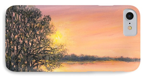 IPhone Case featuring the painting Ashore At Dusk 2 by Kathleen McDermott