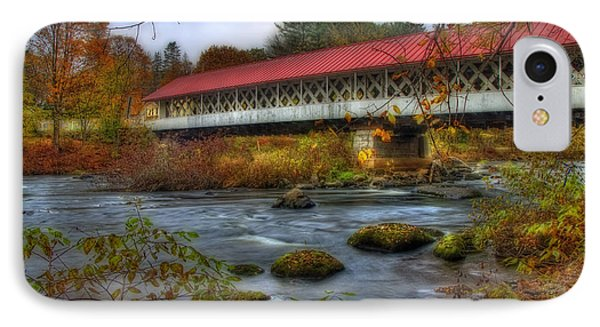 Ashuelot Covered Bridge 2 IPhone Case by Joann Vitali