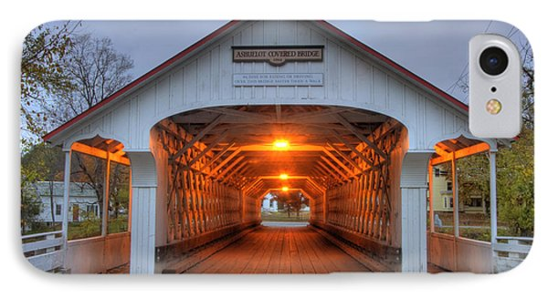 Ashuelot Covered Bridge IPhone Case by Joann Vitali