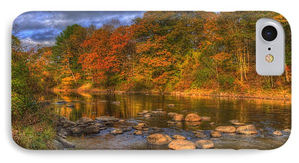 Ashuelot River In Autumn - New Hampshire IPhone Case