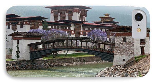 Asia, Bhutan Cantilevered Foot Bridge IPhone Case by Jaynes Gallery