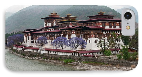 Asia, Bhutan Exterior View Of Punakha IPhone Case by Jaynes Gallery