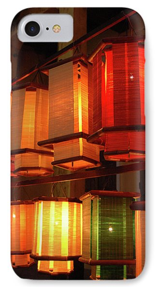 Asia, Vietnam Fabric Lanterns, Hoi An IPhone Case by Kevin Oke