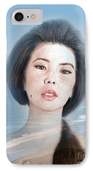 Asian Beauty Fade To Ocean Photograph IPhone Case by Jim Fitzpatrick