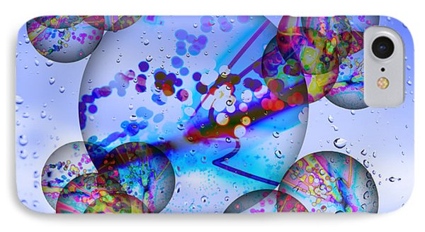 Asian Bubbles In Rain Phone Case by Anthony Caruso