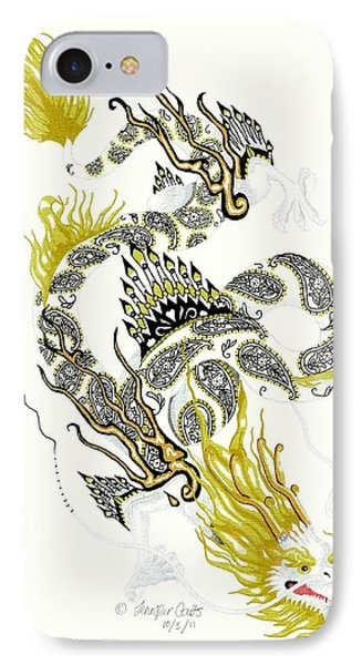 Asian Dragon IPhone Case by Jennifer  Anne Esposito