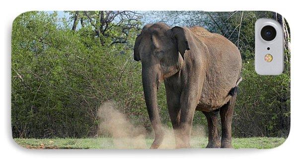 Asian Elephant Dust Bathing IPhone Case