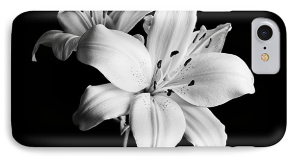 Asian Lilies 1 IPhone Case by Sebastian Musial