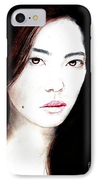 Asian Model II Phone Case by Jim Fitzpatrick