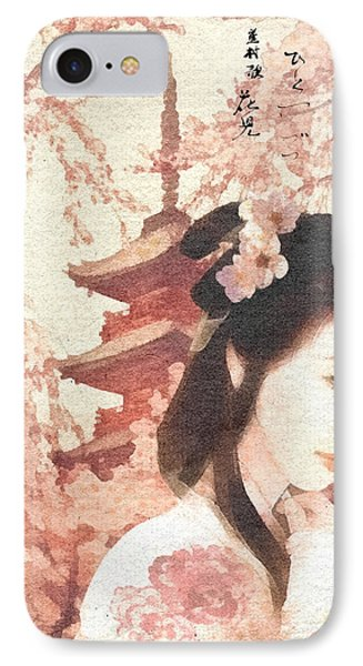 Asian Rose Phone Case by Mo T