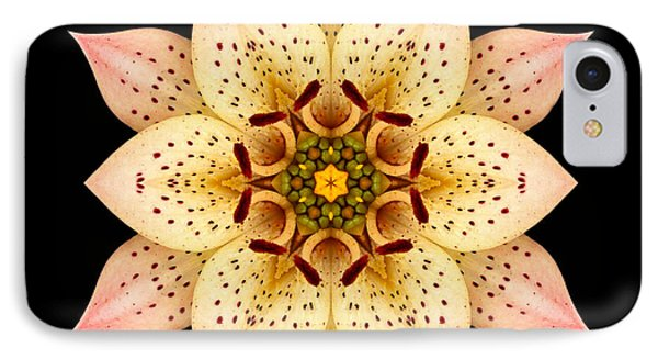 IPhone Case featuring the photograph Asiatic Lily Flower Mandala by David J Bookbinder