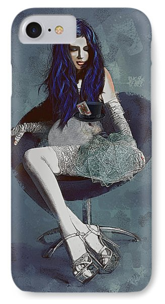 IPhone Case featuring the digital art Ask Alice by Galen Valle