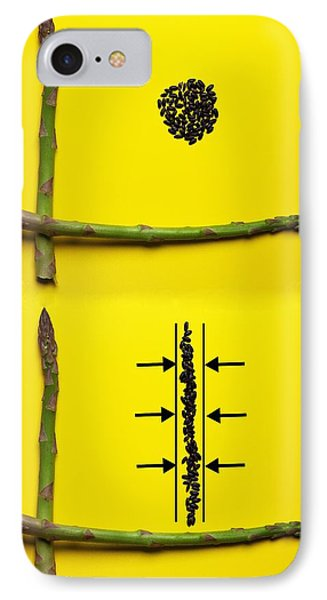 IPhone Case featuring the photograph Asparagus And Black Rice Depicting Heisenberg Uncertainty Food Physics by Paul Ge