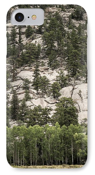 IPhone Case featuring the photograph Aspen And Rock by Wayne Meyer