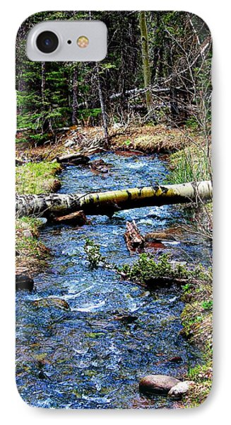 IPhone Case featuring the photograph Aspen Crossing Mountain Stream by Barbara Chichester