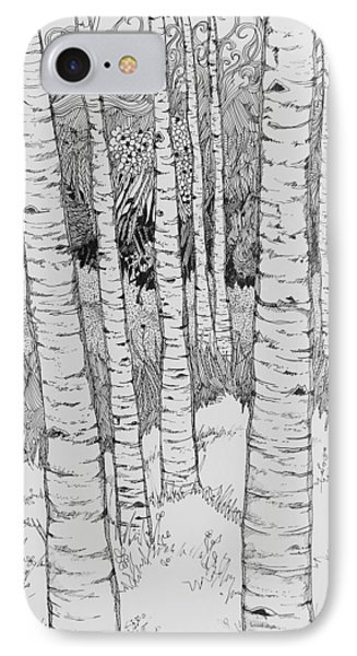 Aspen Forest Phone Case by Terry Holliday