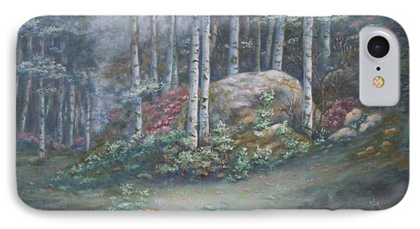 IPhone Case featuring the painting Aspen Grove by Roena King