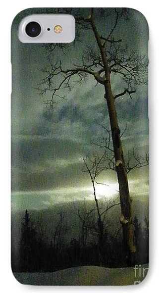 Aspen In Moonlight IPhone Case by Brian Boyle