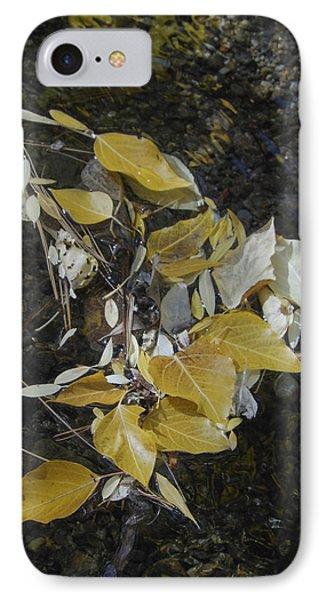 Aspen Leaves In Creek Whirlpool IPhone Case