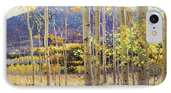 Panorama View Of Aspen Trees IPhone Case by Gary Kim