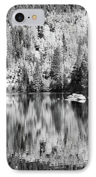 Aspen Reflections - Black And White IPhone Case by Harold Rau