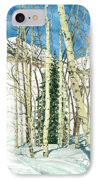 Aspen Shelter Phone Case by Barbara Jewell