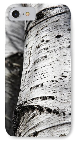 IPhone Case featuring the photograph Aspen Trunks In Light And Shadow by Lincoln Rogers