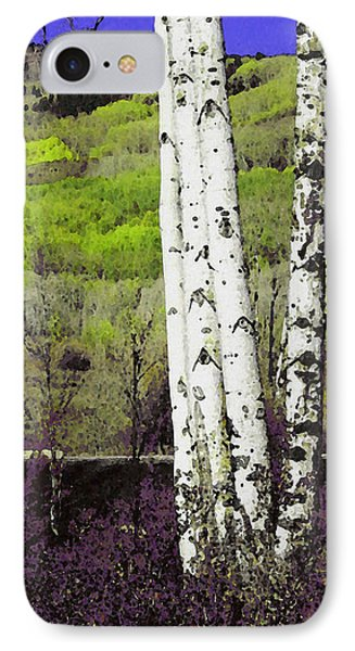 Aspens 4 IPhone Case by David Hansen