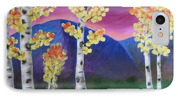 Aspens And Mountains IIi Phone Case by Elizabeth Golden