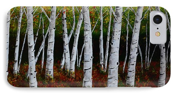 Aspens In Fall 2 IPhone Case by Melvin Turner