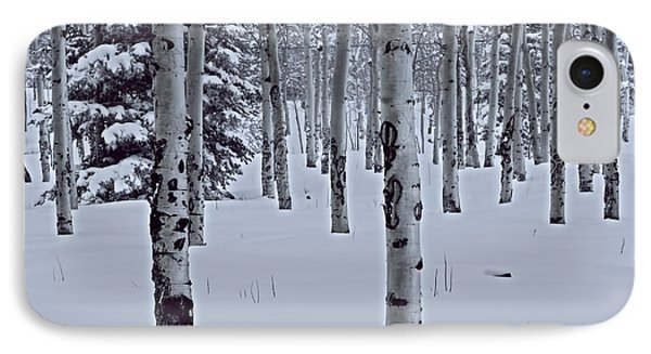 IPhone Case featuring the photograph Aspens In The Snow by Kristal Kraft