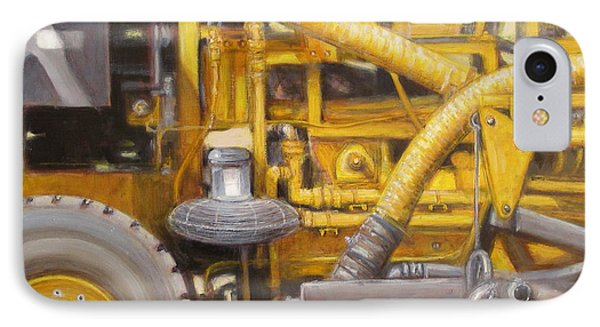 IPhone Case featuring the painting Asphalt Paving Equipment by Donelli  DiMaria