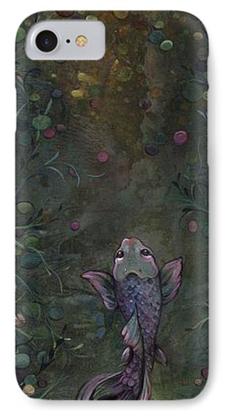 Aspiration Of The Koi IPhone Case by Shadia Derbyshire