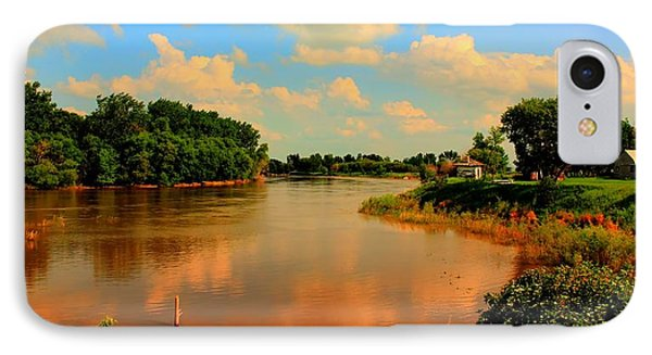 IPhone Case featuring the photograph Assiniboine River Hdr by Larry Trupp