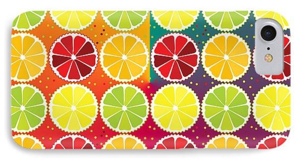 Assorted Citrus Pattern IPhone Case by Gaspar Avila