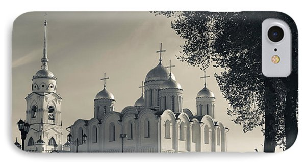 Assumption Cathedral In Vladimir IPhone Case by Panoramic Images