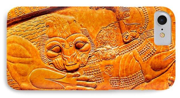 IPhone Case featuring the photograph Assyrian Lion by Nigel Fletcher-Jones