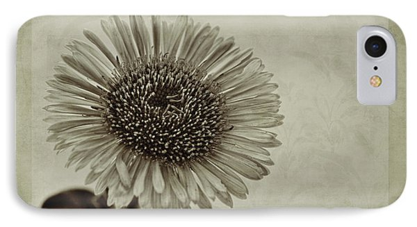 Aster With Textures Phone Case by John Edwards