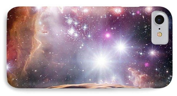 Asteroid And Star Cluster IPhone Case by Detlev Van Ravenswaay