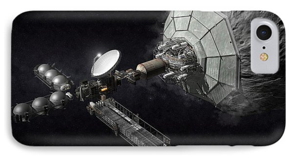 Asteroid Mining And Processing Phone Case by Bryan Versteeg