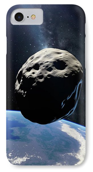 Asteroid Passing Earth IPhone Case by Detlev Van Ravenswaay