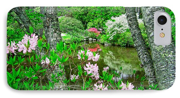 Asticou Azalea Garden IPhone Case by Edward Fielding