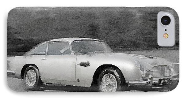 Aston Martin Db5 Watercolor IPhone Case by Naxart Studio