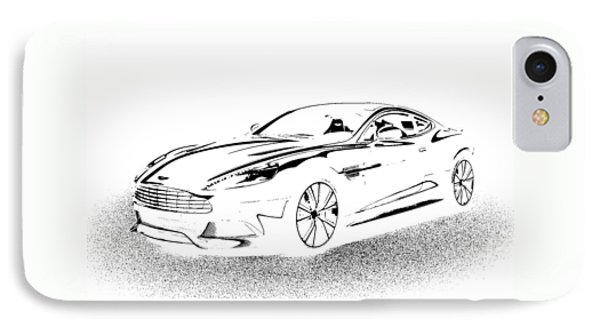 IPhone Case featuring the digital art Aston Martin by Rogerio Mariani