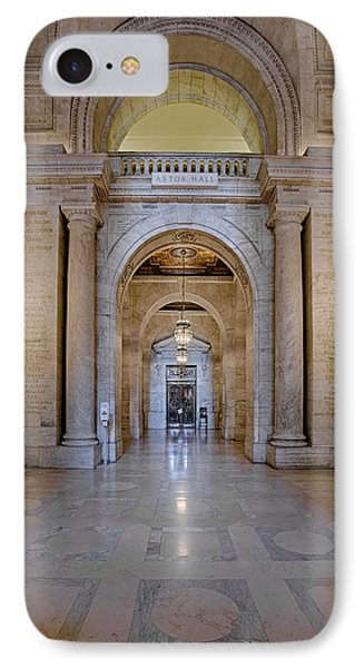 Astor Hall New York Public Library IPhone Case by Susan Candelario