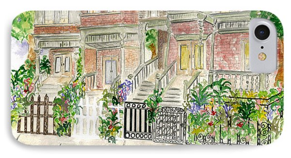 Astor Row In Harlem IPhone Case by AFineLyne