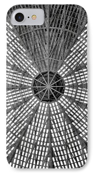 Astrodome Ceiling IPhone Case by Benjamin Yeager